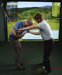 Golf lessons in the swing studio