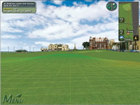 A simulated golf course